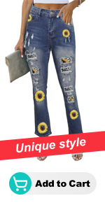 Print high waist slim jeans