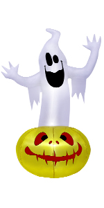 6FT Halloween Inflatable ghost and pumpkin