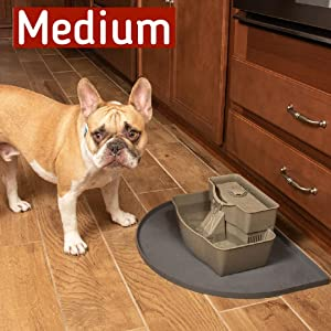Medium Fountain Mat for small pet fountains with small dog