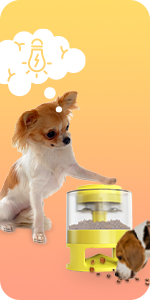 Automatic Dog Feeder, Dog Food Dispenser Interactive Button Trigger Dog Puzzle