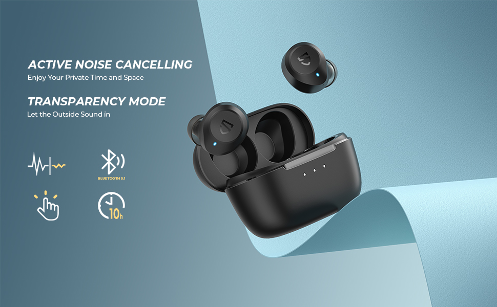 Active noise cancelling & transparency mode
