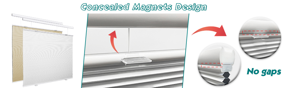 100% blackout magnets design top down blinds for windows and shades