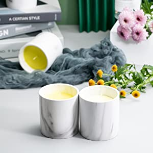 Ceramic Food Storage Jars, Airtight Kitchen Canister Modern Design Marble Container