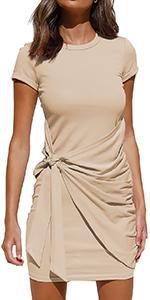 Women Summer Short Sleeve T Shirt Dress