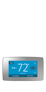 sensi touch, silver thermostat