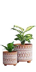 Wave Pattern Ceramic Plants Pot