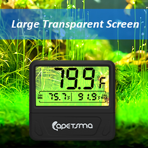 fish tank thermometer gauge