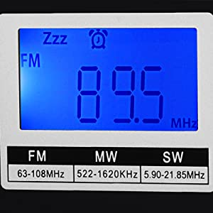 Blue Backlight LCD Display Radio