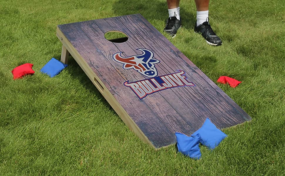 Bulljive Brands Cornhole Boards for Fun Camping gifts Travel Beach Outdoors Game