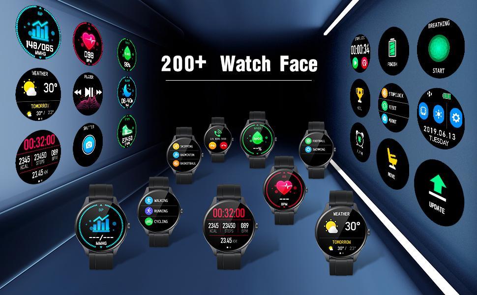 Various Watch Faces for Smart Watch wasserdict IP68