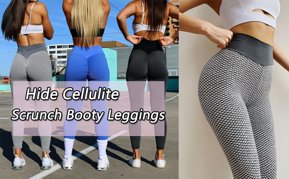 High Waisted & Tummy Control & Hide Cellulite & Not See-Through & 4 way Stretch