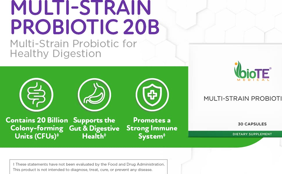 MULTI-STRAIN PROBIOTIC 20B: Multi-Strain Probiotic for Healthy Digestion