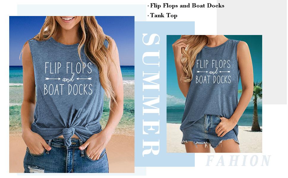 Flip Flops and Boat Docks Tank Top