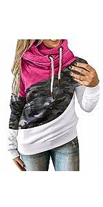 Women's Color Block Pullover Hoodie