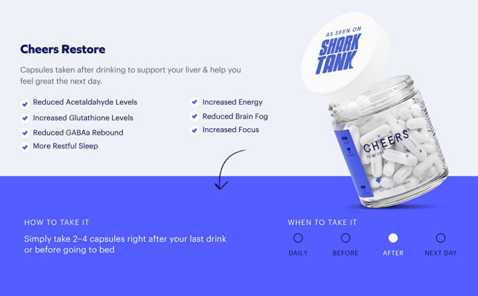 Capsules taken after a night out help you feel great the next day
