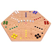 """Aggravation Board Game, Wooden, Oak, Painted, Double Sided, 20"""""""