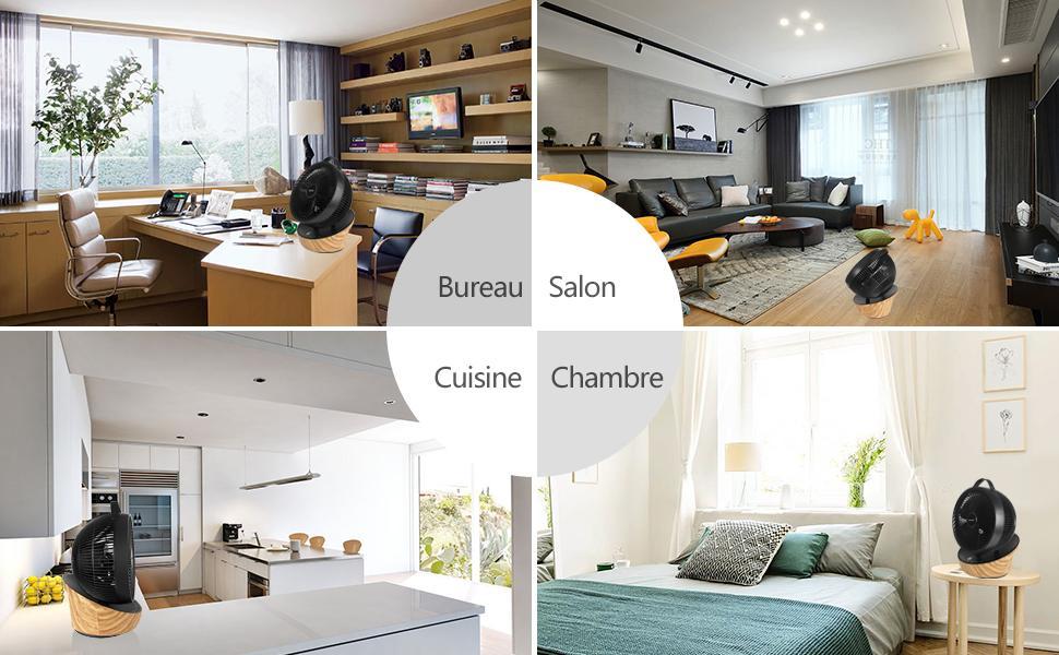 ventilateur pour chambre, salon, cuisine, bureau