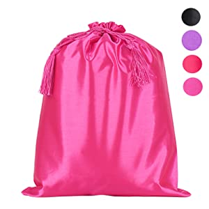 Multicolors satin bags for you to choose