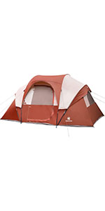 10 Person Tent-Red