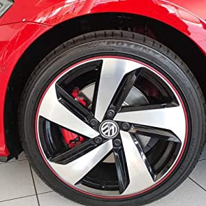 red rim protectors for car