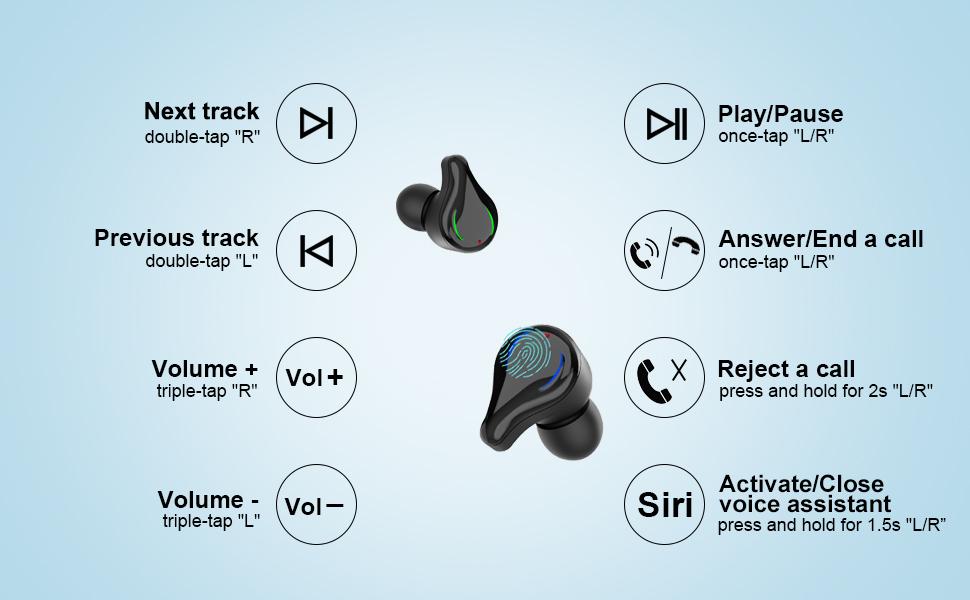 earbud & in-ear headphones wireless bluetooth