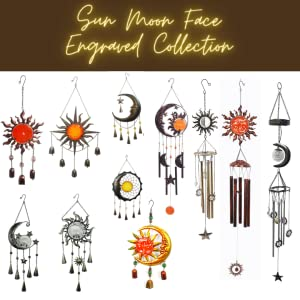 Sun Moon Face Engraved Collections