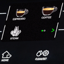 Full color drink icons make it easier than ever to brew your favorite beverages at one touch.