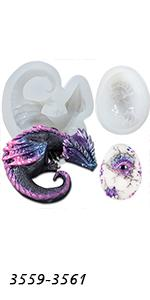 3-count Dragon Molds