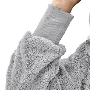 Women's Winter Warm Fuzzy Fleece Hooded Cardigan Long Jacket Coat Overcoat with Pockets