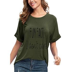army green fun shirt for women