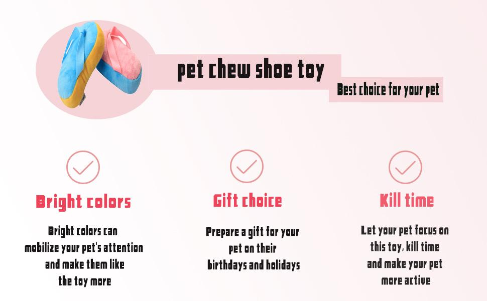 IFOYO Funny Plush Dog Chew Toy, Durable Simulation Slippers Chew Toy