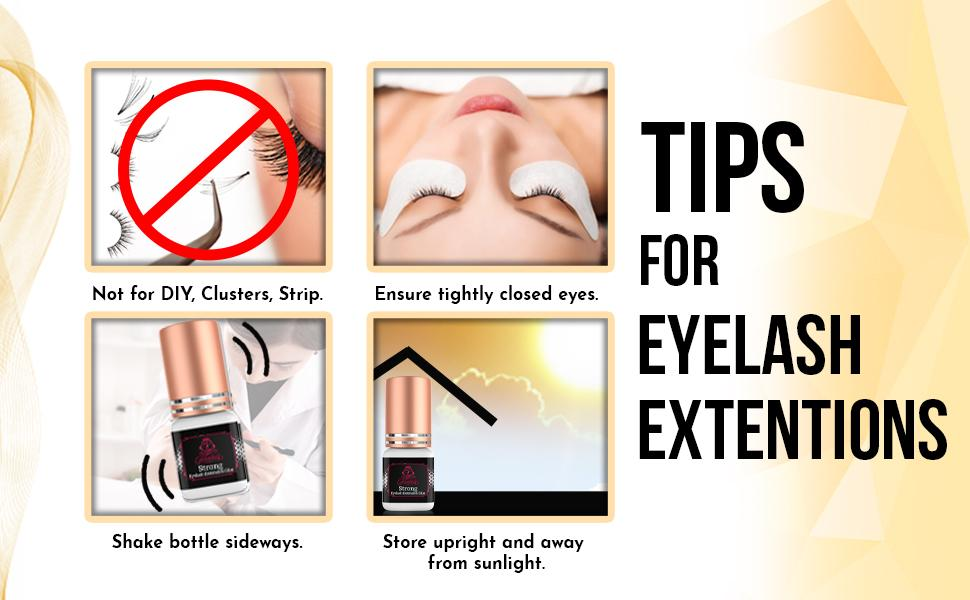tips for eyelash extensions