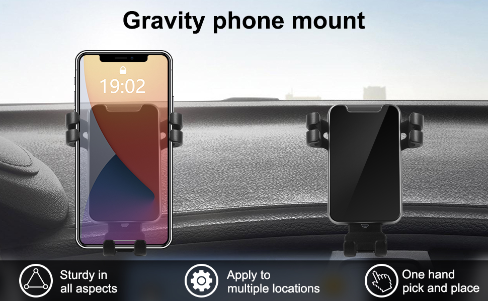 Gravity phone mount