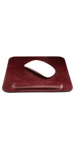 Londo Top Grain Leather Mousepad with Wrist Rest