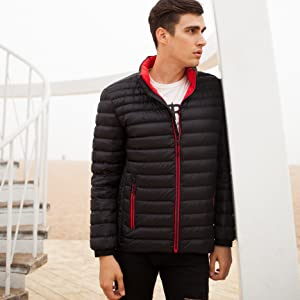 rokka and rolla mens packable down puffer jacket