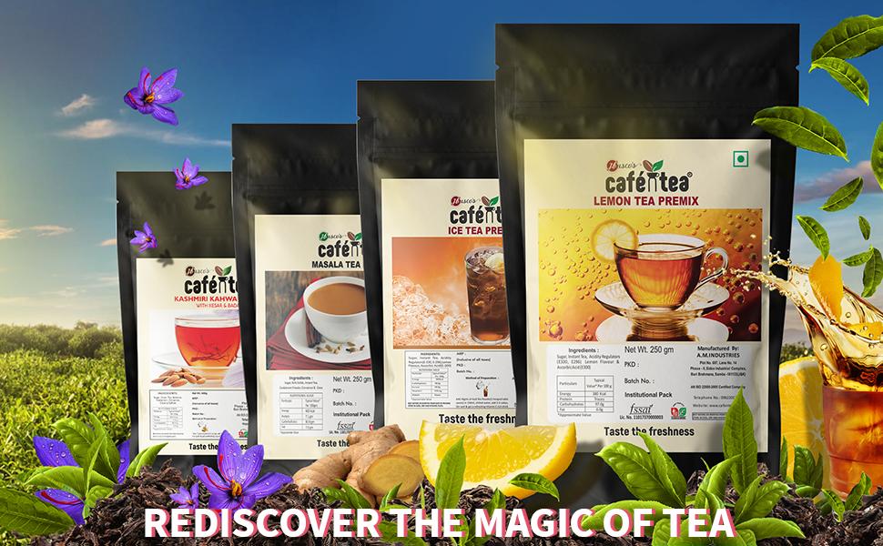 lemon ice iced  tea powder ginger cardamom masala premix instant