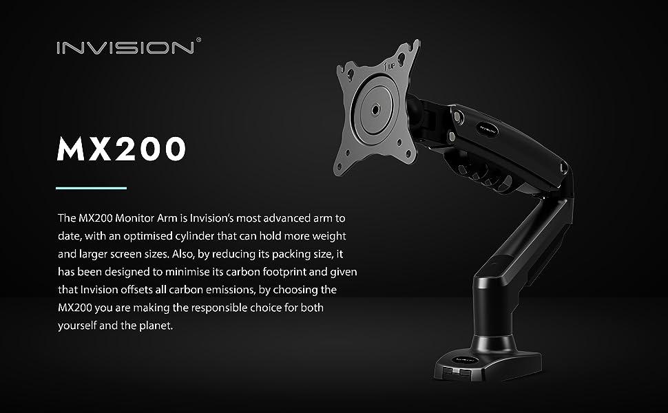 """Invision MX200 Monitor Arm Mount for 19-32"""" Screens VESA 75 & 100mm"""