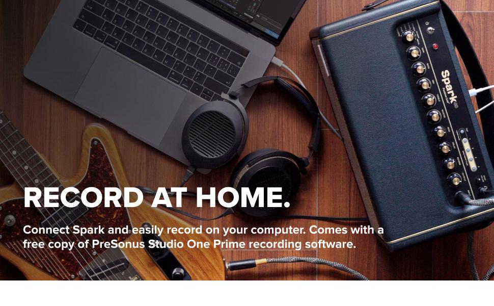 Record on your computer. Includes a PreSonus Studio One Prime recording software.