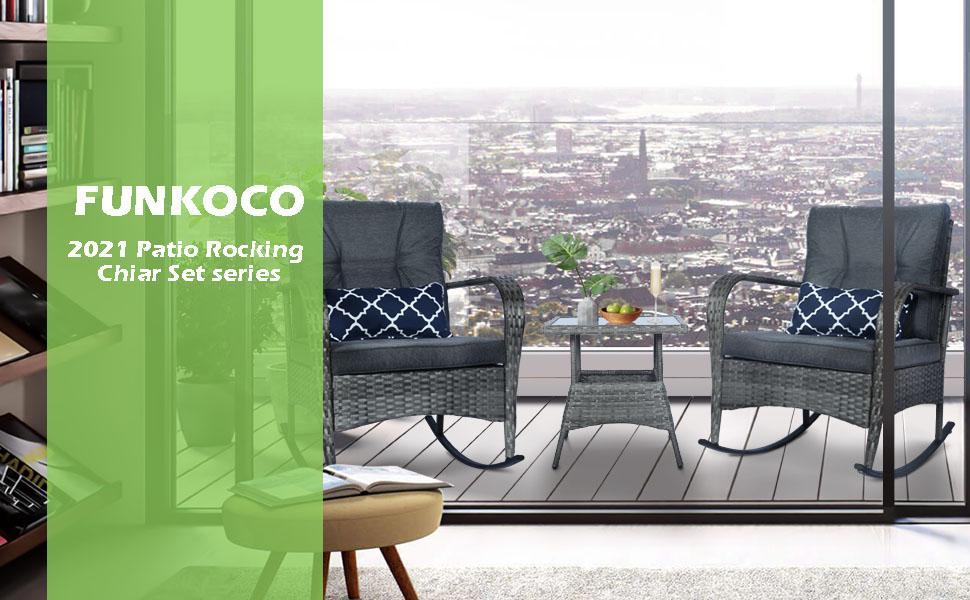 FUNKOCO 2021 rRockaing chair set