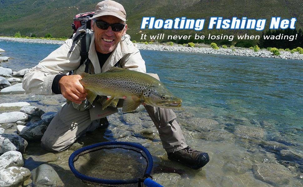 fly fishing net trout net bass net landing net catching releasing net