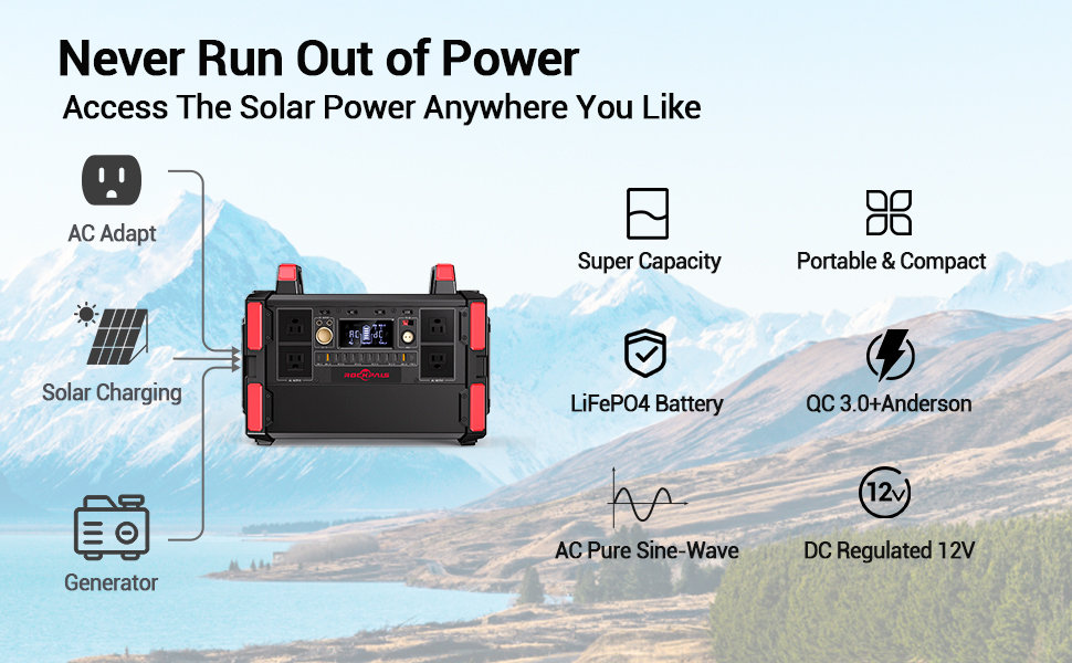 Backup LiFePo4 Battery Pack for Outdoor RV/Van Camping