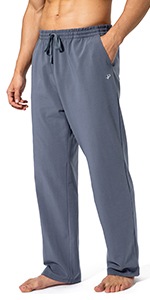 mens cotton sweatpants for home around