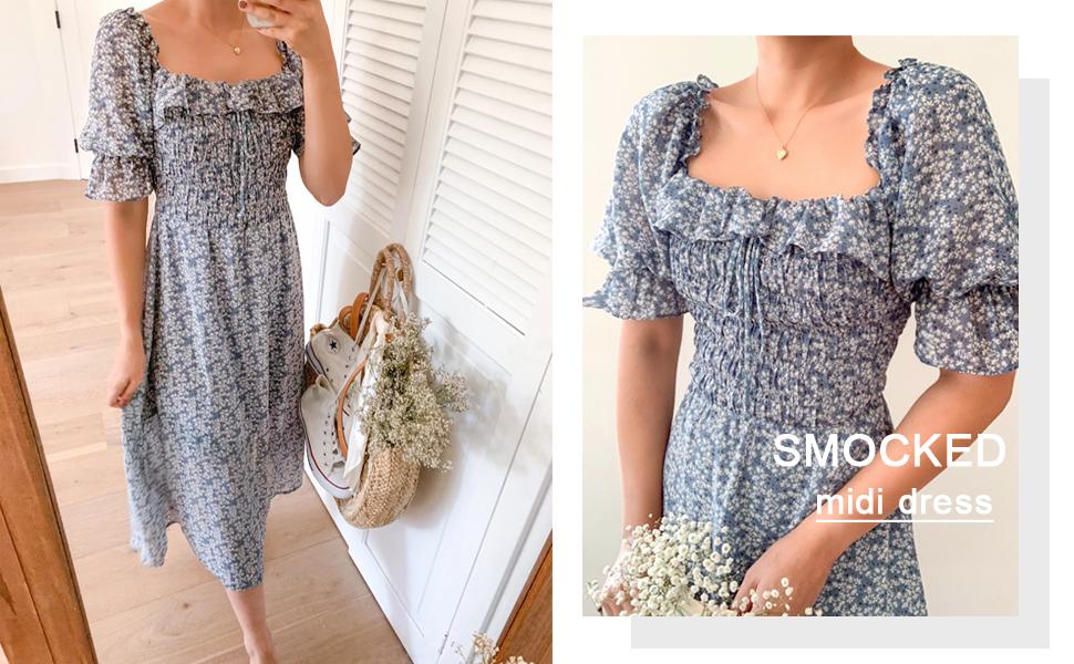 puff sleeve dress for women