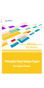 Matte Printable Vinyl Sticker Paper