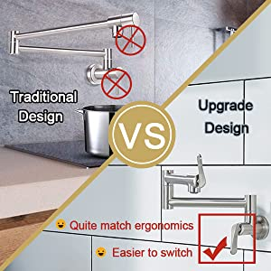 Upgrade Design Handles, Quite Match Ergonomics, Easier to Switch