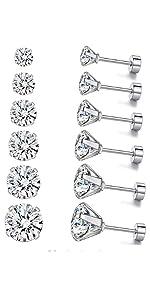 screw earrings set