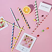 Cute and Colorful Design paper straws
