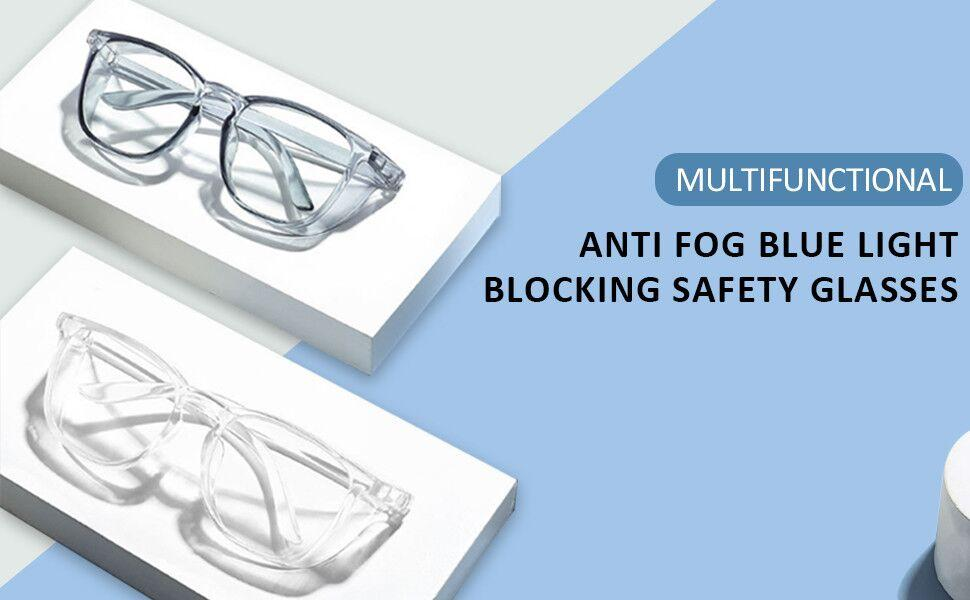 Anti fog blue light blocking glasses