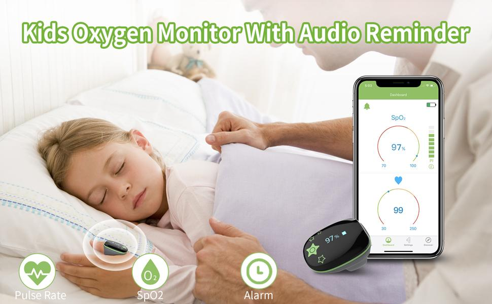 a child is using wellue O2ring ,it can help her to track O2 level and pulse rate