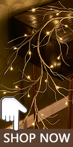 birch garland lights